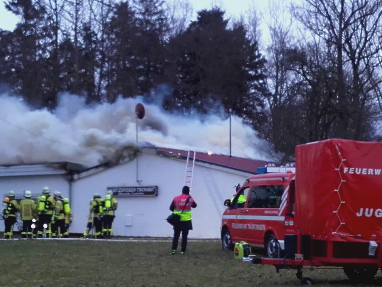 Brand im Schützenhaus Tischardt