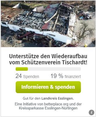 Spende für den Schützenverein Tischardt e.V.